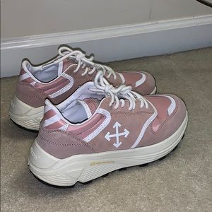 NEW OFF-WHITE authentic jogger pink suede sneaker